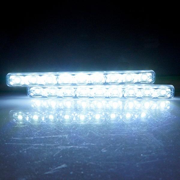 hye153745 12V 차량용 보급형 9발 LED데이라이트 주간주행등